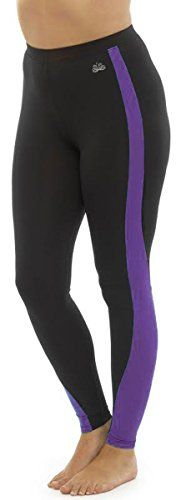 Ladies Tom Franks Two Tone Sport Fitness Yoga Gym Leggings Fashion LRG-Purple…
