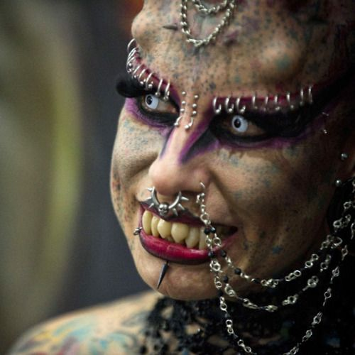 Chatter Busy: Maria Jose Cristerna Extreme Transformation Into Vampire