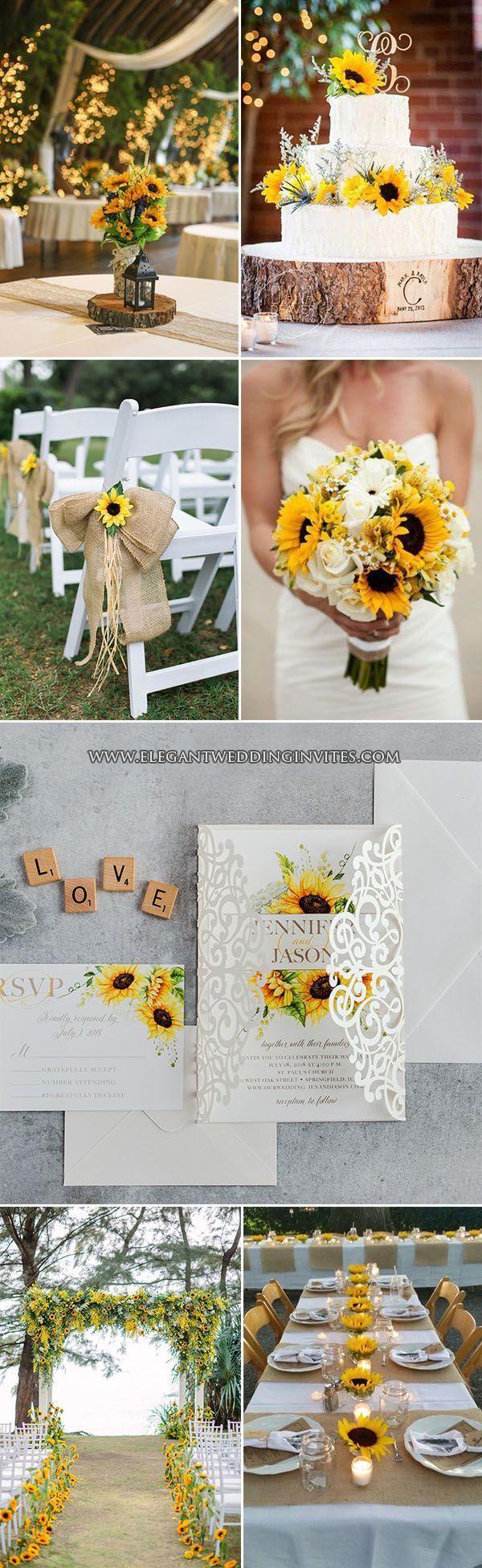 sunflower rustic wedding ideas #weddingideas
