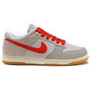 311730 061 Nike Dunk Low Womens CL Sand Red Grey K04008