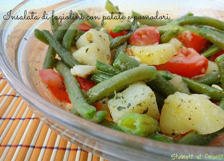 Insalata di fagiolini con patate e pomodori