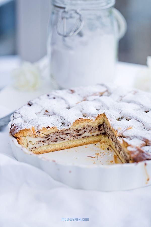 Włoska tarta z serkiem ricotta i czekoladą