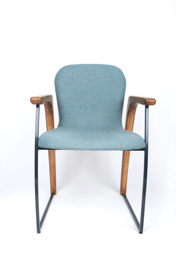 Wool-DORM project designed by Dominik Grzyb - University of Arts Poznań. Chair covered by Wool fabric by Dekoma.