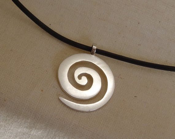 Handmade Sterling Silver Spiral Pendant by noritadesigns on Etsy