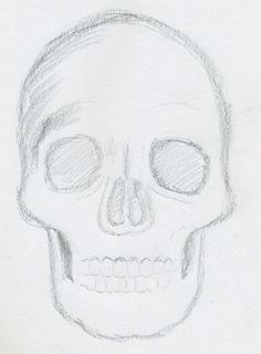 easy skull drawings for 9 year olds - Google Search