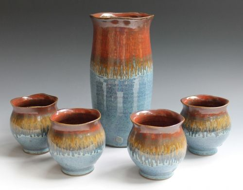 FOr the glaze combination- ancient jasper and blue rutile from amaco