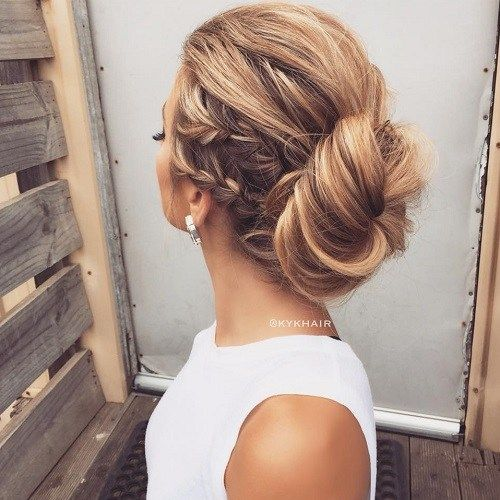 Wondrous 1000 Ideas About Bun Hairstyles On Pinterest Haircuts Short Hairstyles Gunalazisus