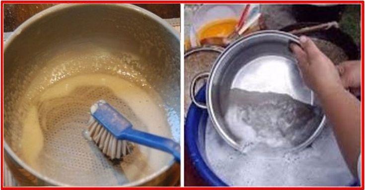 Curățarea tigăilor sau tăvilor de copt, deseori se dovedește a fi un proces ce durează mai mult timp decât am fi vrut. Din păcate, rezultatul nu este întotdeauna unul pe măsura așteptărilor. Pentru a economisi din timp și a vă asigura cu cele mai curate vase, vă prezentăm rețeta unei soluții de curățat pregătită în condiții casnice. În comparație cu soluțiile chimice din comerț, aceasta este absolut inofensivă și foarte economică. Soluție de curățat vasele INGREDIENTE -1/2 pahar bicarbo...