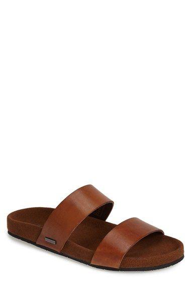 Ted Baker London 'Magnuss' Leather Slide Sandal (Men) available at #Nordstrom