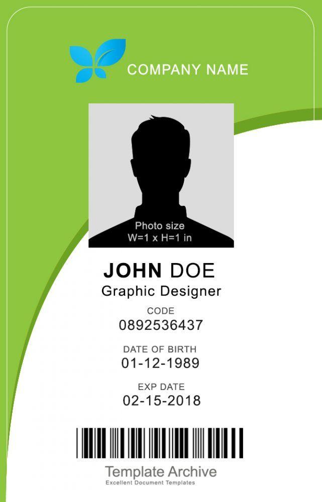 16 Id Badge Id Card Templates Free Templatearchive Kartu Nama Kartu Referensi Desain