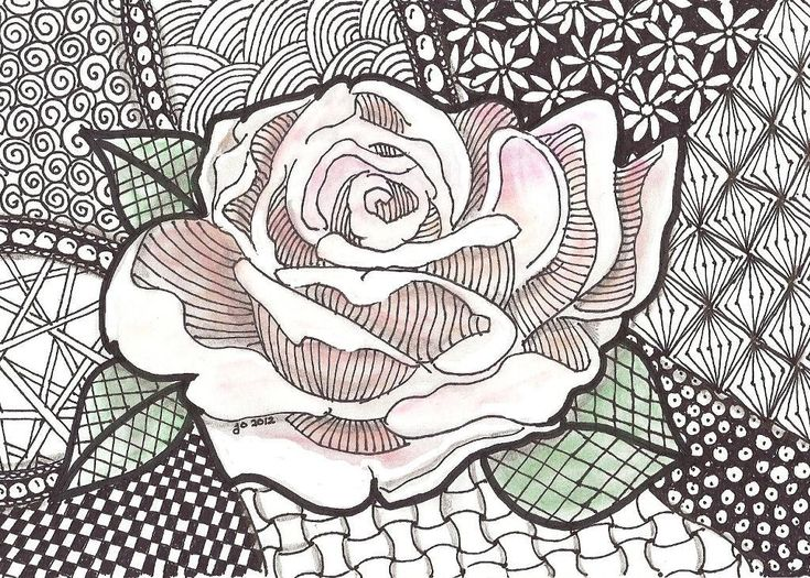 Zentangles - doodling taken to another level.