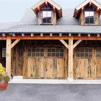 rustic style garage door