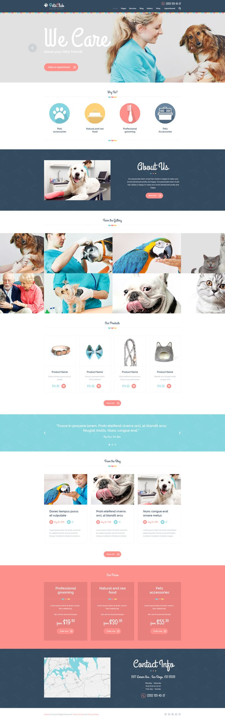 Pets Club - Pet Care, Shop & Veterinary Theme • Download ➝…