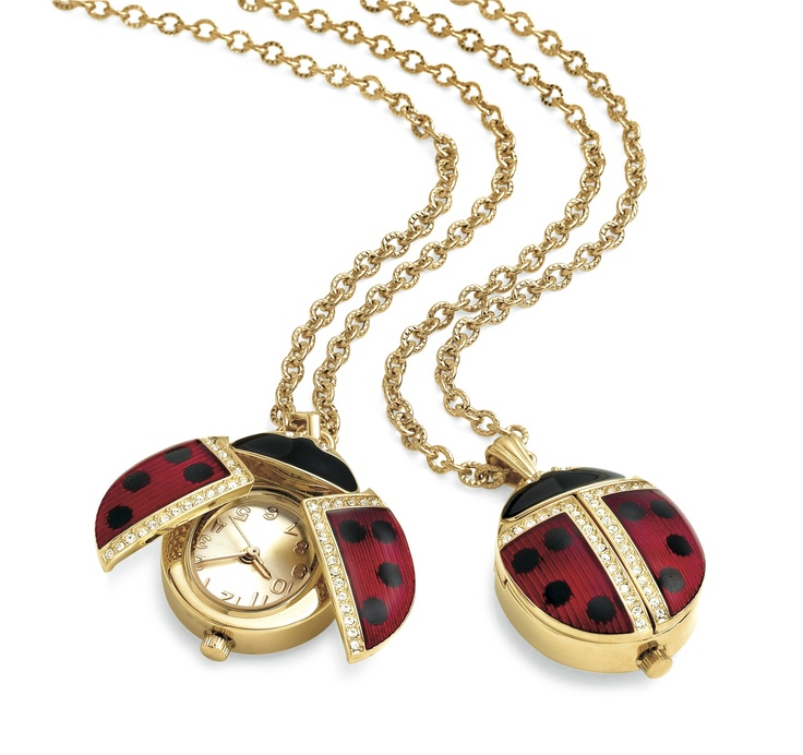 Russian Imperial Lady Bug Pendant Watch, $265, The MET Store  Shop 8, Level 2, QVB