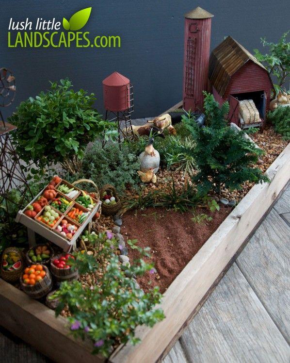 Miniature Farm Garden at Lush Little Landscapes