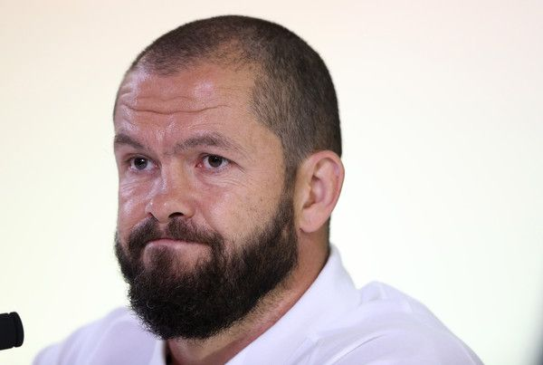 Andy Farrell Photos Photos - Andy Farrell, the England backs coach faces the media during the England press conference at Pennyhill Park on September 28, 2015 in Bagshot, England. - England Training and Press Conference