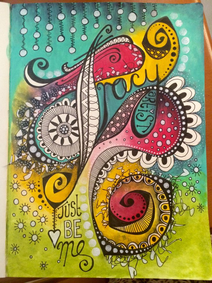Doodle art journal page - just be me !! | by Tr4cy1973