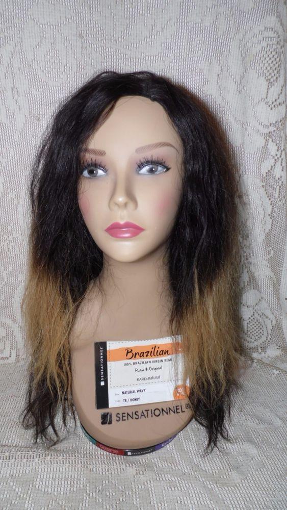 LADY HEAD PROP DISPLAY SENSATIONNEL BRAZILIAN REAL HAIR ON SPIN BASE NOT A WIG #SENSATIONNEL