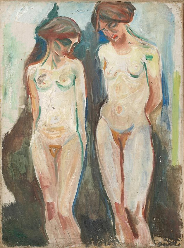 The human mountain » Munch's Ekely - Two Graces 1927 / Oil on canvas Munch Museum
