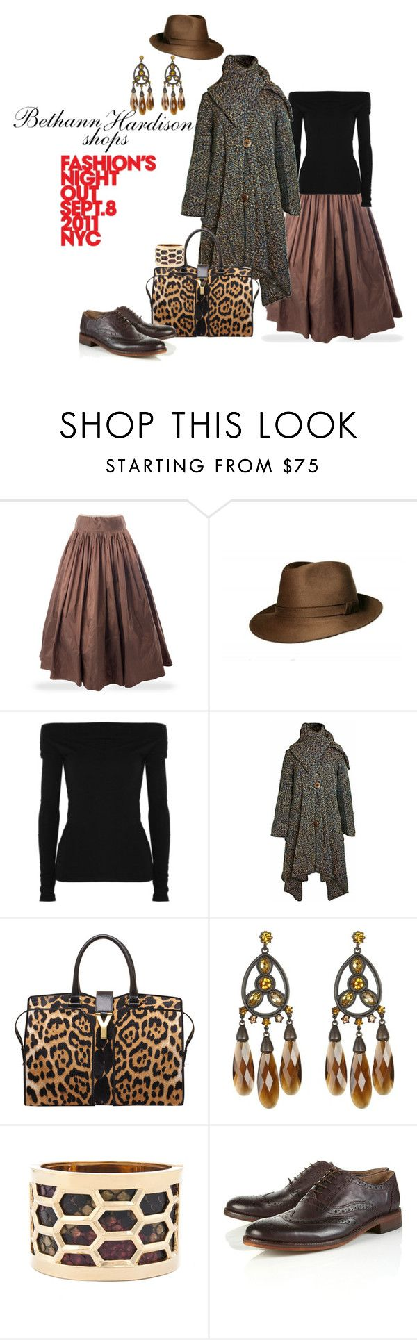 """Bethann Hardison shops FNO"" by sofistafunk ❤ liked on Polyvore featuring James Perse, Luna, Yves Saint Laurent, AllSaints and Topman"