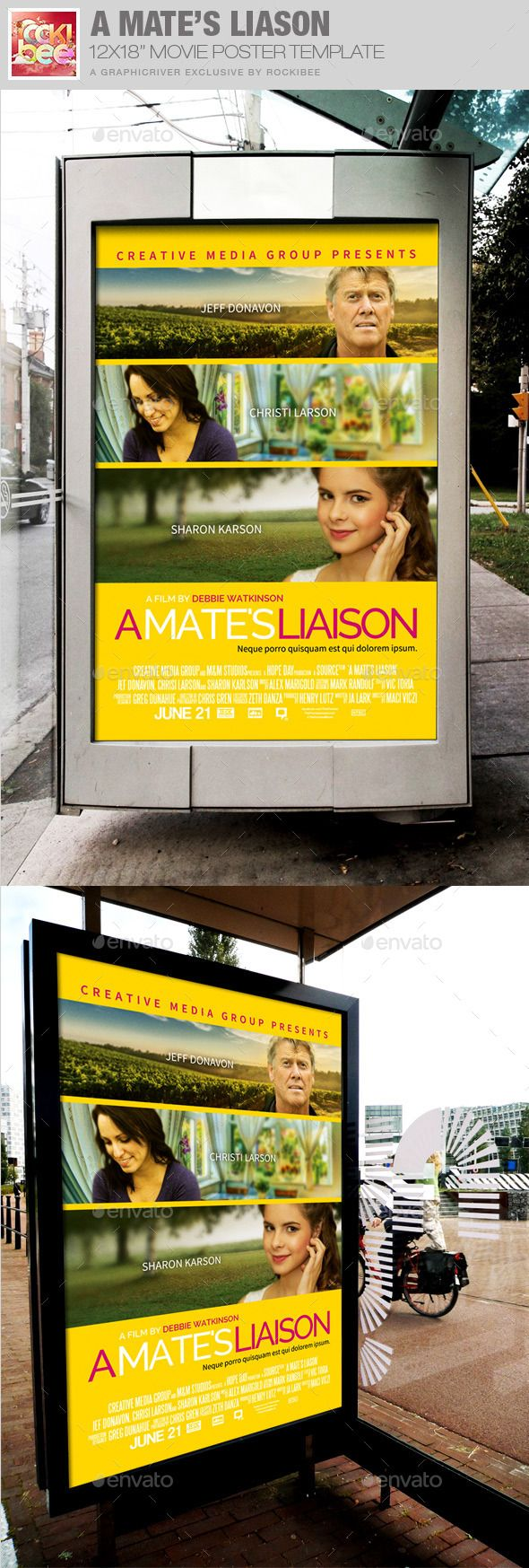 A Mate's Liaison Movie Poster Template — Photoshop PSD #outdoor #customizable • Available here → https://graphicriver.net/item/a-mates-liaison-movie-poster-template/12025424?ref=pxcr