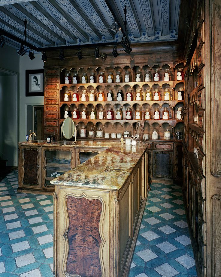 Buly 1803 in Paris Ramdane Touhami (the former co-owner of Cire Trudon) and Victoire de Taillac-Touhami which is taking the country's famed pharmacy shopping to another level, & back two hundred years. ~ Among the warmly lit warren of glass cases, arched shelves, and wooden drawers are the company's own exquisitely packaged collection of candles, essential oils, water-based perfumes, and soaps, all made in the tradition of nineteenth-century craftsmanship.