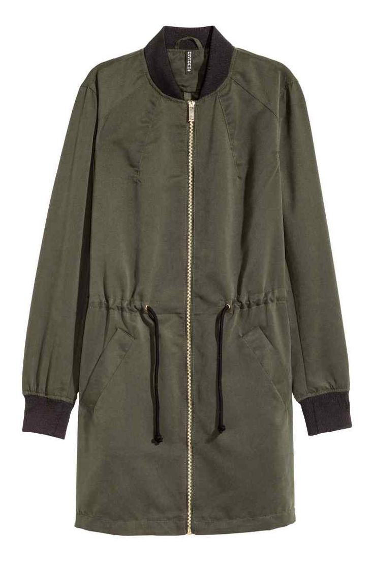 Long bomber jacket | H&M