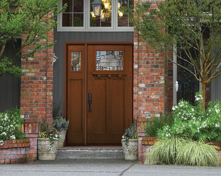 Fiberglass entry doors reflect the beauty of wood & 48 best Exterior Doors images on Pinterest | Front entry Exterior ... Pezcame.Com
