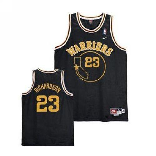 sale retailer 78431 e6551 Warriors #23 Jason Richardson Black Throwback Stitched NBA ...