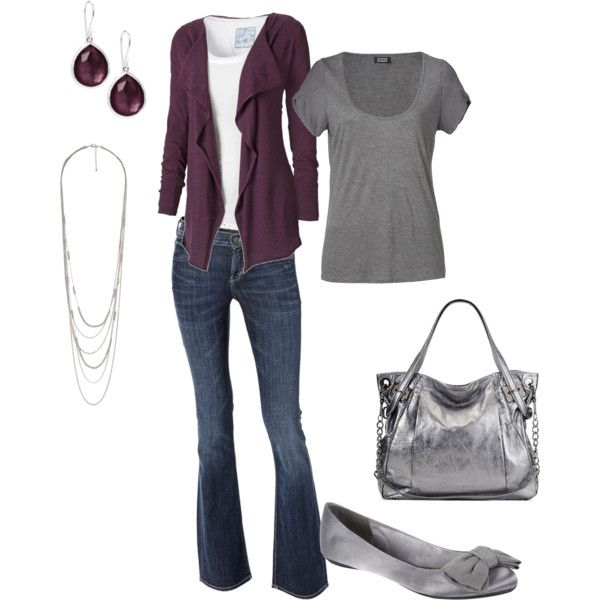 purple silver, created by andwegodancing on Polyvore: Shoes, Styles Pinboard, Woman Fashion, Purple Grey, Color Combos, Purple Silver, Outfit, Bags, Purple Gray