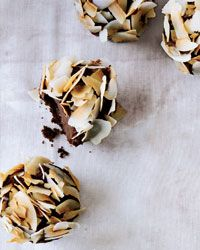 Chocolate Cupcakes with Caramel Ganache and Coconut Recipe on Food & Wine