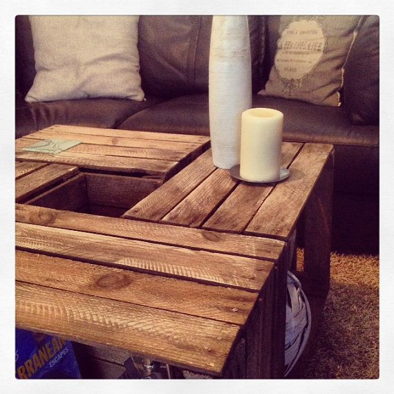 Wooden Crate Coffee Table A Rustic Look With Lots By JBWoodDesign Part 96