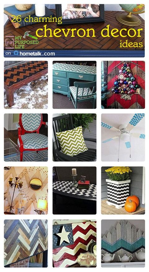 If you think chevron is just for fabric, this will surprise you! Check out these 26 charming and unique chevron decor ideas!