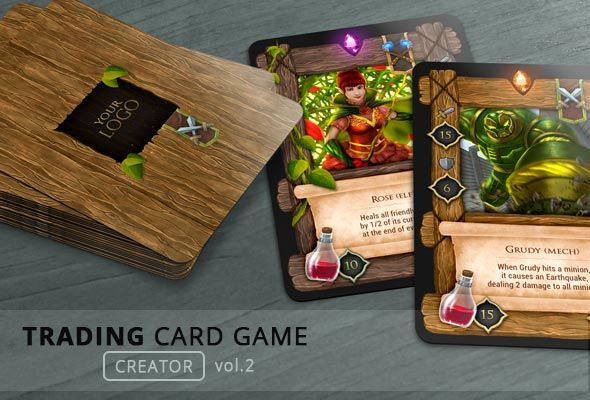 Trading Card Game – Creator Hand Drawn Card Design with front and back and many customization options. Made in 300 DPI for print 2.5×3.5 inch – may be also used for the PC game. Trading Card Gam...
