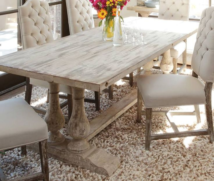 White Distressed Dining Room Table And Chairs 28 Images