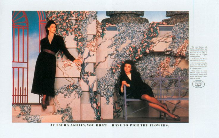 Read more: https://www.luerzersarchive.com/en/magazine/print-detail/14472.html At Laura Ashley, you don´t have to pick the flowers. Tags: WCRS, London,John Swannell,John Knight,Laura Ashley,Giles Keeble