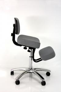 BetterPosture® Grey Jazzy Chrome Deluxe Kneeling Chair, F1446GY by Jobri | BizChair.com