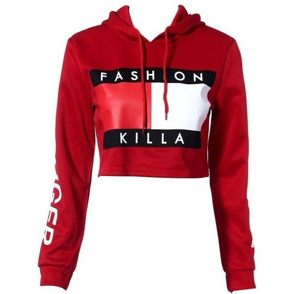 GBSELL Women Ladies Red Hooded Sweatshirt Sexy Short Hoodie Workout... (710 RUB) ❤ liked on Polyvore featuring tops, hoodies, short tops, red hooded sweatshirt, short crop tops, sweatshirt hoodies and cropped hoodies