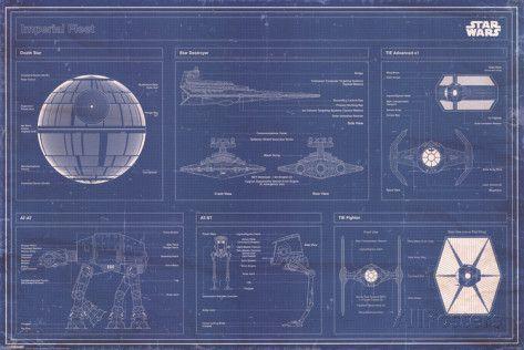 Star Wars - Imperial Fleet blueprint Posters at AllPosters.com