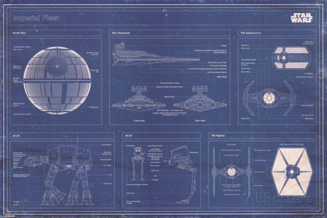 Star Wars - Imperial Fleet blueprint Posters at AllPosters.com