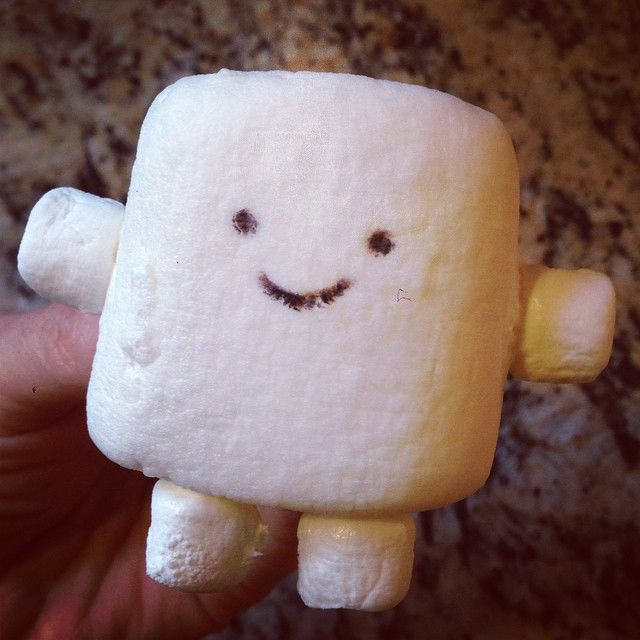 Adipose made from extra large marshmallow and four mini ...