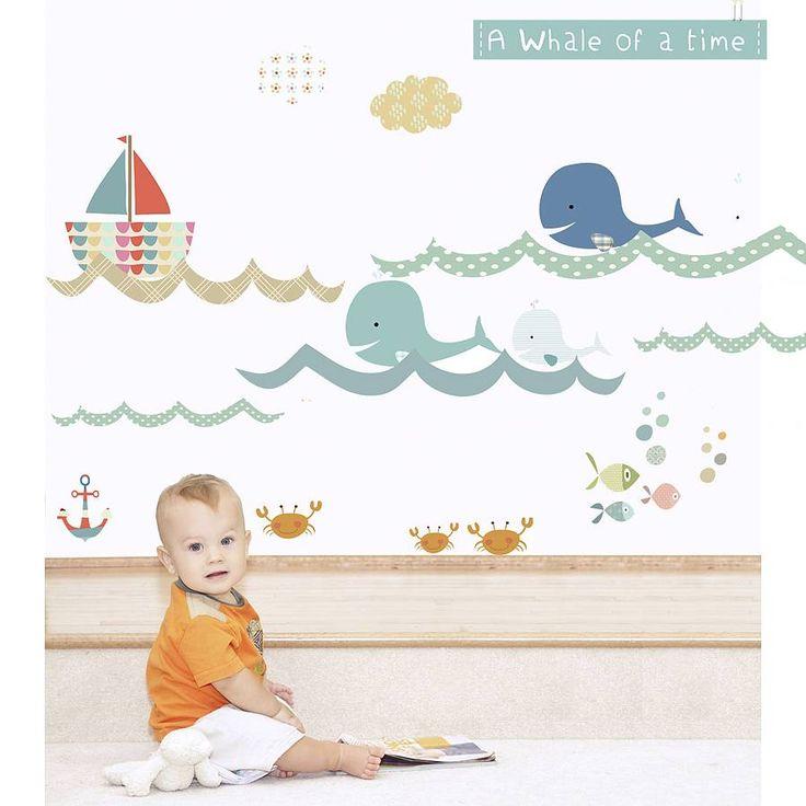 a whale of a time fabric wall stickers by littleprints | notonthehighstreet.com