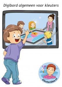 Algemene educatieve activiteiten voor kleuters op het digibord, computer of tablet, ga voor de spellen naar kleuteridee