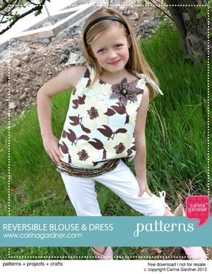 Reversible Blouse and Dress Free Download and Video