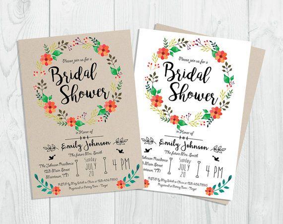 Rustic Bridal Shower Invitation Printable by CutePaperStudio