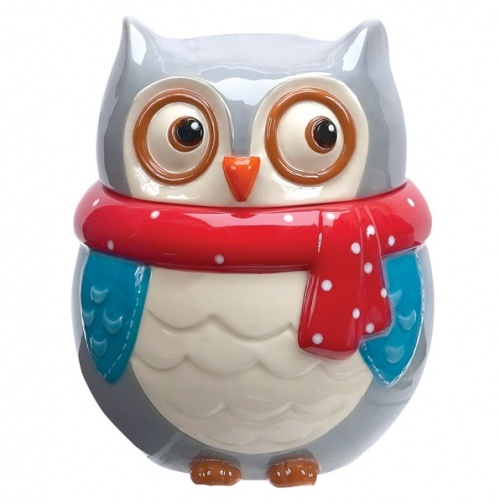 Amazon.com: Boston Warehouse Snowy Owls Cookie Jar: Kitchen & Dining