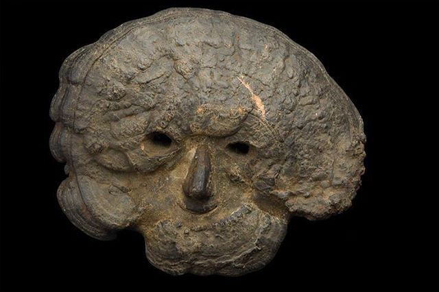 Ceremonial fungal mask - possibly 19th century. It is believed ...