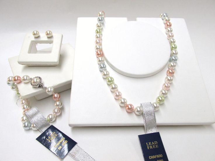 Aderezo en perla de mallorca #duranjoyerosbogota #plata #perlasdemallorca #aderezos #collares #dijes #pulseras #joyeria #hechoamano #topos #aretes #cadenas #compracolombiano