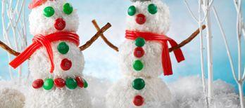 Rice Krispies* Snowman #ricekrispies #snowman #kidstreats #recipe #coconut