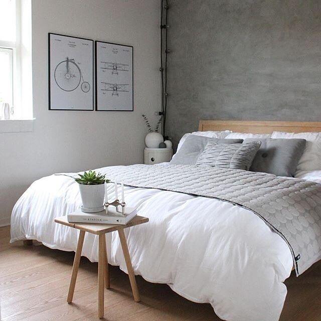 """1,684 Likes, 10 Comments - Inspiration, home and interior (@waspsliving) on Instagram: """"Fantastisk fint soveværelse i hvide og grå nuancer her hos @trineroed ! Gå på opdagelse i mærker…"""""""